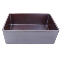 "Nantucket Sinks FCFS3020S-ACCIAIO 30"" Farmhouse Fireclay Sink in Iridescent"