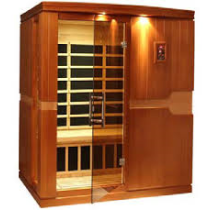 SaunaCore FN4X4C Infrared Sauna Room For Two In Red Cedar Wood