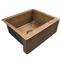 "Barclay FSCSB3094-SAC Austin 25"" Smooth Copper Farmer Sink – Antique Copper"