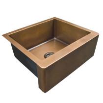 """Barclay FSCSB3098-SAC Austin 33"""" Smooth Antique Copper Single Farmer Sink"""