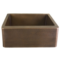 "Barclay FSCSB3110-AC Barroca 36"" Copper Single Kitchen Sink, Antique Copper"