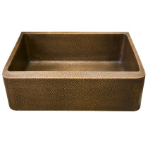 "Barclay FSCSB3114-AC Avena 30"" Hammered Copper Farmer Kitchen Sink, Single"