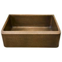 "Barclay FSCSB3116-AC Avena 33"" Hammered 1 Bowl Antique Copper Farmer Sink"