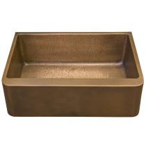 """Barclay FSCSB3124-SAC Bentley 33"""" Single Bowl Farmer Sink in Antique Copper"""