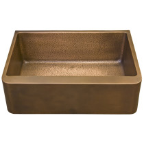 "Barclay FSCSB3126-SAC Bentley 36"" One Bowl Rectangular Copper Farmer Sink"
