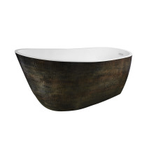 Anzzi FT-AZ069 Bouie Series 5.68 ft. Freestanding Bathtub in Caiman Skin