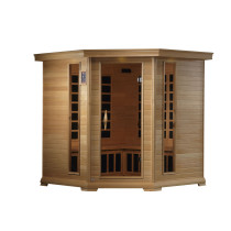 Golden Designs GDI-6445-01 Ultra Low EMF 4-5 Person Corner Far Infrared Sauna