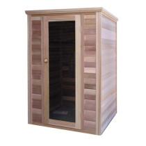 SaunaCore HR4X4-Cedar Infrared Sauna For Two In Cedar Wood