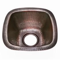 Houzer HW-BETA13A Hammerwerks Series Copper Undermount Petite Bar Sink