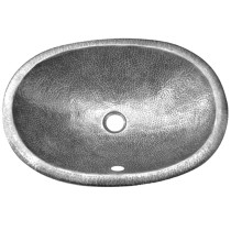 Houzer HW-EL2EF Hammerwerks Series Ellipse Undermount Pewter Lavatory Sink In Pewter