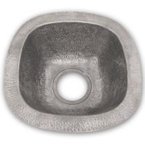 Houzer HW-LAG2BF Hammerwerks Series Undermount Copper Single Bowl Bar/Prep Sink In Pewter