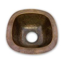Houzer HW-SCH1BF Hammerwerks Series Undermount Copper Single Bowl Bar/Prep Sink In Antique Copper