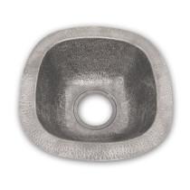 Houzer HW-SCH2BF Hammerwerks Series Undermount Copper Single Bowl Bar/Prep Sink In Pewter