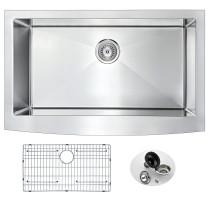 ANZZI K-AZ3320-1A Elysian Farm Single Bowl Kitchen Sink In Brushed Satin
