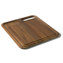 Franke KB-40S Iroko Solid Wood Cutting Board With Colander For KBX Series Kitchen Sinks