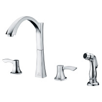 ANZZI KF-AZ032 Soave Series Two Handles Kitchen Faucet in Polished Chrome