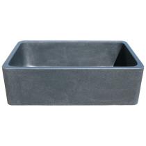 Allstone KF332010SB-NLP-BK 33 Inch Kitchen Farm Sink in Black Granite Stone