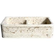 Allstone KF362010DB-5050-PL-#1 36 Perlina Limestone 36 Inch Kitchen Farm Sink