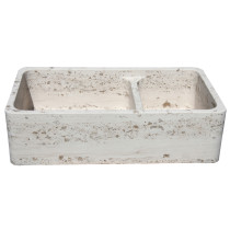 Allstone KF362010DB-NLP-PL-#001 Perlina Limestone 36 Inch Kitchen Farm Sink
