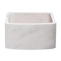 Allstone KFCF171810-CL 17 x 18 Farmhouse Kitchen Sink -Crema Lyon Limestone