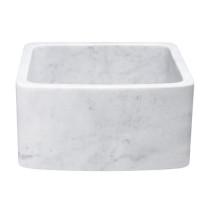 Allstone KFCF171810-CW 17 x 18 Inch Farmhouse Kitchen Sink - Carrara Marble