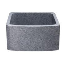 Allstone KFCF171810-M 17 x 18 Inch Farmhouse Kitchen Sink - Mercury Granite