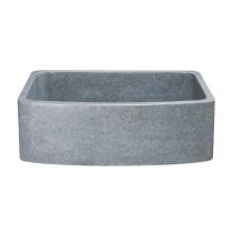 Allstone KFCF302210SB-NLP 30 Inch Curved Front Farm Sink - Mercury Granite