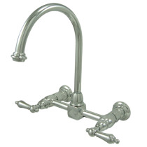 Kingston Brass KS129.AL Two Handle Wall-Mount Kitchen Faucet