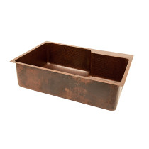 Premier Copper KSFDB33229 Kitchen Single Basin Sink With Space For Faucet