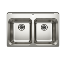 Cantrio Koncepts KSS-522 Shown With 1 Faucet Hole