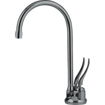 Franke LB5280-100-HT Hot and Cold Water Traditional Point of Use Faucet in Satin Nickel