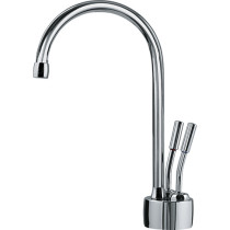 Franke LB7200 Two-Handles Lever Faucet with Single Hole in Polished Chrome