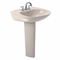 TOTO LPT242G#03 Bone Prominence® Pedestal Lavatory With Single Faucet Hole