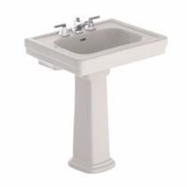 "TOTO LPT530.8N#12 Sedona Beige Promenade® Pedestal Lavatory Sink With 8"" Faucet Centes"