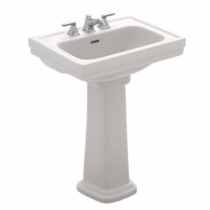 TOTO LPT532N#01 Cotton Promenade® Pedestal Lavatory With Single Faucet Hole