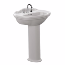 TOTO LPT754#01 Cotton Whitney® Pedestal Lavatory With Single Faucet Hole