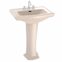 TOTO LPT780#03 Bone Clayton® Pedestal Lavatory With Single Faucet Hole