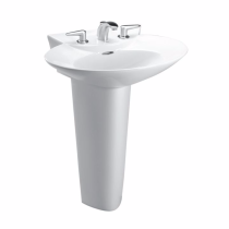 TOTO LPT908 Pacifica® Elegant Pedestal Lavatory Sink With Rear Overflow
