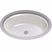 TOTO LT641#01-NA Waza® Barocco™ Undercounter Lavatory Sink With Pattern Design