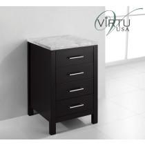 "Virtu MDC-2120-ES 20"" Caroline Parkway - Espresso - Vanity Side Cabinet"