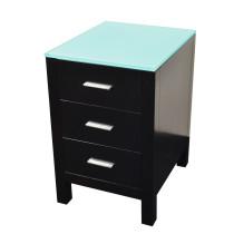 "Virtu MDC-4418-G-ES Espresso Solid Oak Wood 18"" Brentford Side Cabinet"