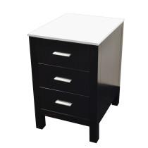"""Virtu MDC-4418-S-ES Espresso Solid Oak Wood 18"""" Brentford Side Cabinet"""