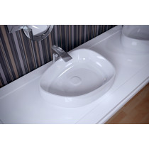Aquatica Metamorfosi-Shapel-Wht Ceramic Bathroom Vessel Sink In White