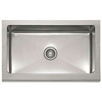 Franke MHX710-33 Manor House Stainless Steel Single Bowl Apron Front Sink