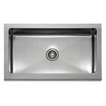 Franke MHX710-36 Manor House Stainless Steel Single Bowl Apron-Front Kitchen Sink