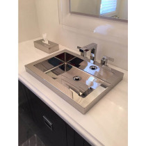 Cantrio Koncepts MS-023 Stainless Steel Drop In Bathroom Sink With Mirror Finish
