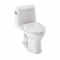 TOTO MS604114CEF#51 UltraMax II Elongated Bowl One Piece Toilet In Ebony