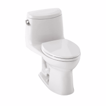 TOTO MS604114CEFRG#01 Cotton UltraMax II One Piece Toilet With Right Hand Trip Lever