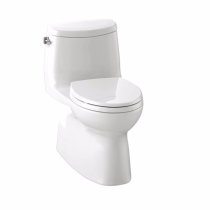 TOTO MS614114CEFRG#01 Carlyle II One Piece Toilet In Cotton With Right Hand Trip Lever