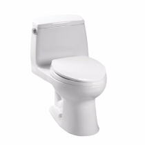 TOTO MS854114SLR#01 UltraMax Elongated Bowl Toilet In Cotton With Right Trip Lever